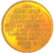 Token - John Quincy Adams – reverse