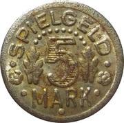 5 Mark (Spielgeld; Globe) – reverse