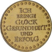 New Year Lucky Token (Glücksengel) – reverse