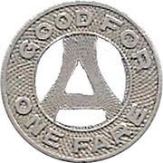 1 Fare - Arundel Bus Co. (Annapolis, Maryland) – reverse