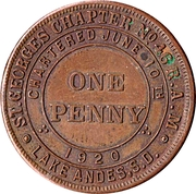 1 Penny - St. Georges Chapter № 46 (Lake Andes, S.D) – obverse