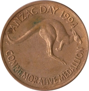 Commemorative Medallion - Anzac Day 1994 – obverse