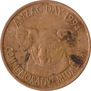 Commemorative Medallion - Anzac Day 1994 – reverse