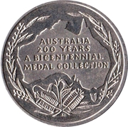 Australia 200 Years Medal Collection (The landing of the first fleet) – reverse