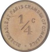 ¼ Cent (Paris; Illinois) – obverse