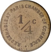 ¼ Cent (Paris; Illinois) – reverse