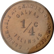 ¼ Cent (Galva; Illinois) – obverse