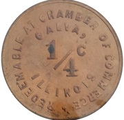 ¼ Cent (Galva; Illinois) – reverse