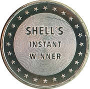 Token - Shell's Famous Facts and Faces Game (Mark Twain; Instant Winner) – reverse
