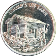 Token - Shell's Famous Facts and Faces Game (Lincoln's Log Cabin; Instant Winner) – obverse