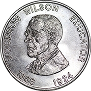 Token - Shell Famous Americans Coin Game (Woodrow Wilson) – obverse