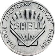 Token - Shell Famous Americans Coin Game (Daniel Boone; Instant Winner) – reverse