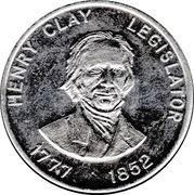 Token - Shell Famous Americans Coin Game (Henry Clay) – obverse