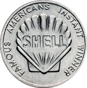Token - Shell Famous Americans Coin Game (Woodrow Wilson; Instant Winner) – reverse