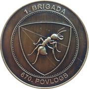 Token - Slovenska vojska (670 .POVLOGB) – reverse
