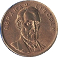 Token - Great Americans (Abraham Lincoln) – obverse