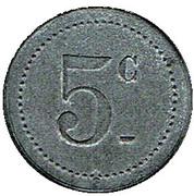 5 Centimes - 53e. Mess des Sous-Officiers (Perpignan) – reverse