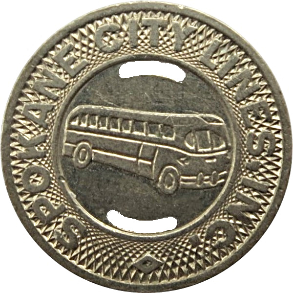 Washington transit token Spokane City Lines WA840Q