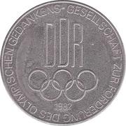 Token - Gesellschaft zur Förderung des olympischen Gedankens (Willibald Gebhardt) – reverse