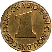 1 Espoon Veropenni / Esbo Skattöre (Espoo) – reverse