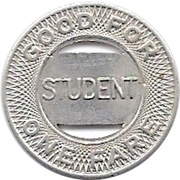 1 Student Fare - Shreveport Transit Co. Inc. (Shreveport, Louisiana) – reverse
