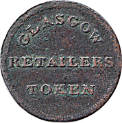 1 Farthing - Glasgow Retailers Token – reverse