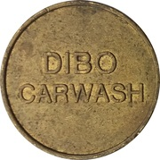 Car Wash Token - Dibo (Brass) – obverse