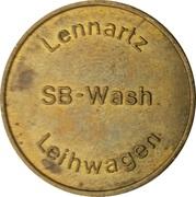 Car Wash Token - SB Wash Lennartz – obverse