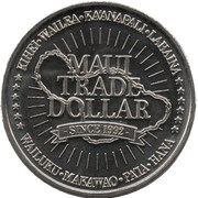 Maui Trade Dollars – reverse