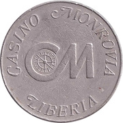 50 Cent Gaming Token - Casino Monrovia – obverse