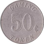 50 Cent Gaming Token - Casino Monrovia – reverse