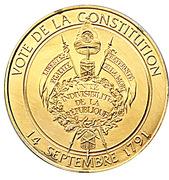 Token - L'Histoire de la Révolution Française (Vote de la Constitution) – reverse