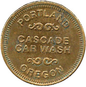 Carwash Token - Cascade Car Wash (Portland, Oregon) – obverse