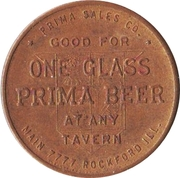 1 Glass Beer - Prima Brewing Company (Rockford, Illinois) – reverse