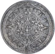 Token - Aztec Calendar and Aztec Sun Stone – reverse