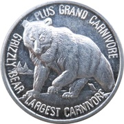 Token - Canada's Northern Wildlife (Grizzly Bear) – reverse