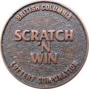 Token - Scratch'N Win (BC Lottery) – obverse