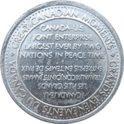 Token - Great Canadian Moments (Opening of St. Lawrence Seaway) – reverse