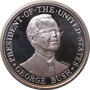 Token - George Bush visits Hungary – obverse