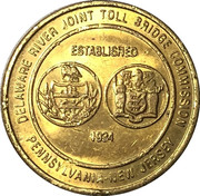 Bridge Token - Delaware River Joint Toll Bridge Commission – obverse