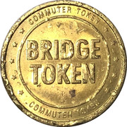 Bridge Token - Delaware River Joint Toll Bridge Commission – reverse