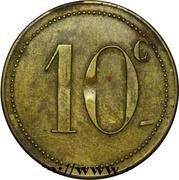 10 Centimes - J. Gregori & Fils (Aïn-Fekan) – reverse