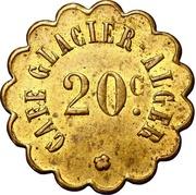 20 Centimes - Café Glacier (Alger) – obverse