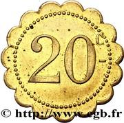 20 Centimes - Café Glacier (Alger) – reverse