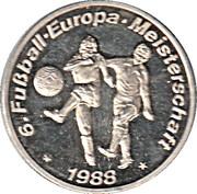 Token - UEFA Euro 1988 – reverse
