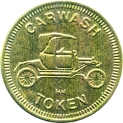 Carwash Token (No Cash Value; HH; 25 mm) – obverse