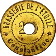 20 Centimes - Brasserie de l'étoile (Constantine) – obverse