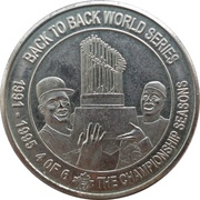 Token - The Toronto Sun Limited Edition Collector Series (Back To Back World Series) – reverse