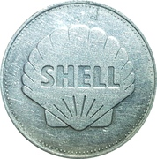 Shell Token - Man In Flight (Charles Lindbergh 1927) – reverse