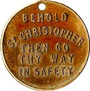 Medallion - St. Christopher – reverse